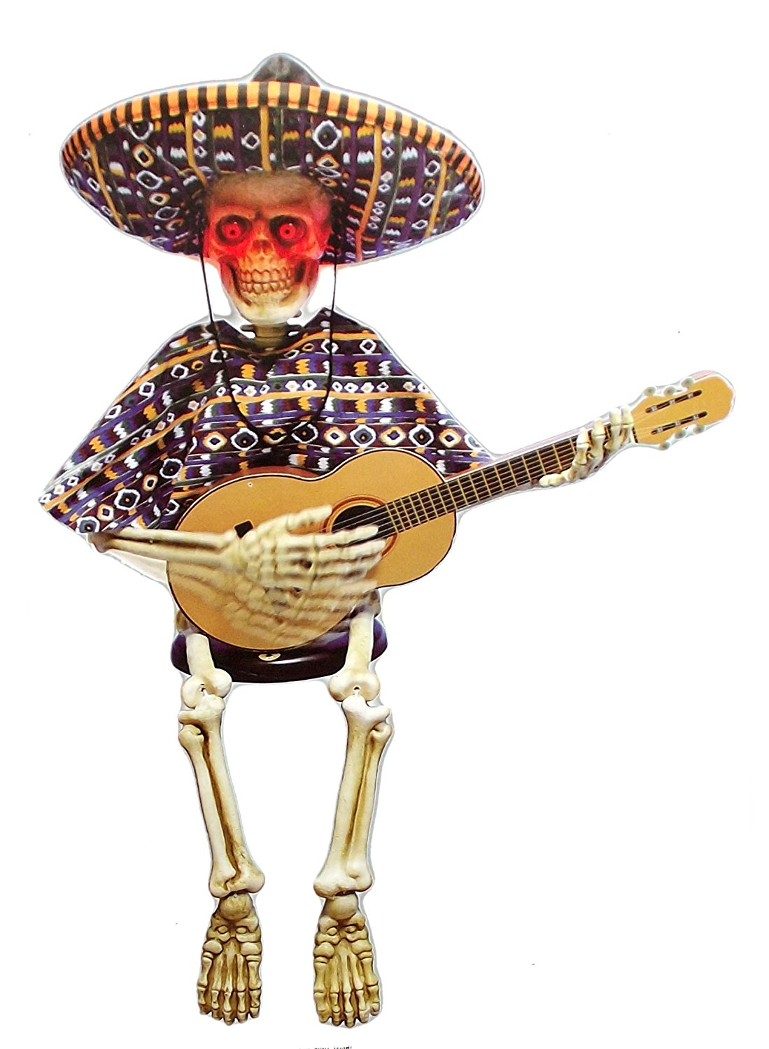ANIMATED LA BAMBA SKELETON HALLOWEEN DECORATION