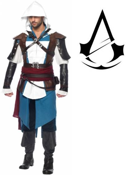 ASSASSIN'S CREED EDWARD KENWAY COSTUME FOR MEN