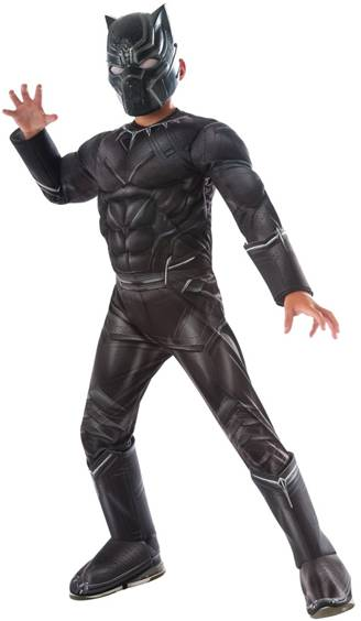 AVENGERS DELUXE BLACK PANTHER COSTUME FOR BOYS