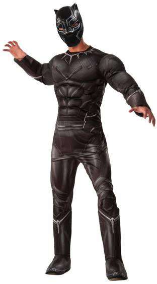 AVENGERS DELUXE BLACK PANTHER COSTUME FOR MEN