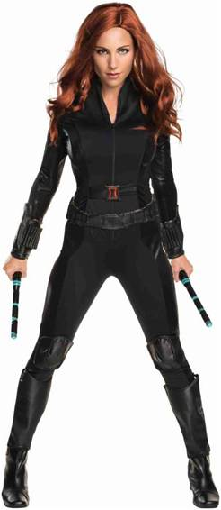 AVENGERS DELUXE BLACK WIDOW COSTUME FOR WOMEN
