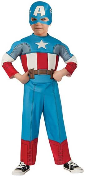 DELUXE MUSCLE CAPTAIN AMERICA COSTUME FOR TODDLERS