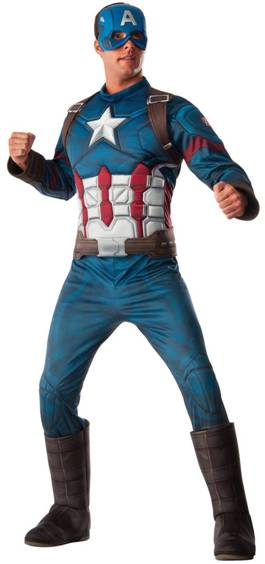 AVENGERS DELUXE CAPTAIN AMERICA COSTUME FOR MEN