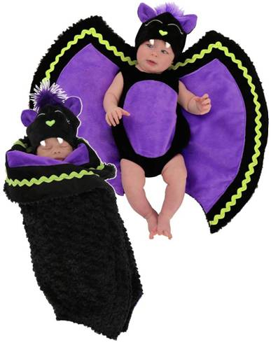 BABY BAT SWADDLE WINGS COSTUME FOR NEWBORN BABIES