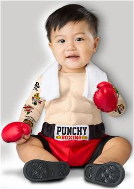 BABY BRUISER BOXER COSTUME FOR BABY BOYS