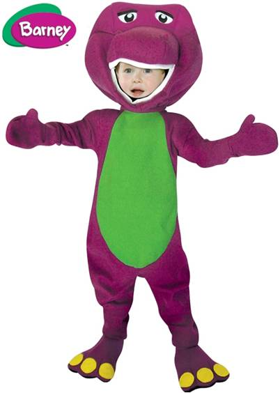 BARNEY *ONLY AVAILABLE CHILD CLOTHING SIZE 4-6*