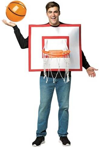 BASKETBALL HOOPS AND BALL COSTUME FOR ADULTS