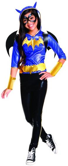 DELUXE BATGIRL HOODIE COSTUME FOR GIRLS