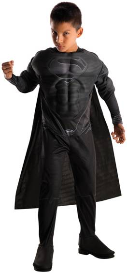 DELUXE MUSCLE CHEST BLACK SUIT SUPERMAN OF STEEL