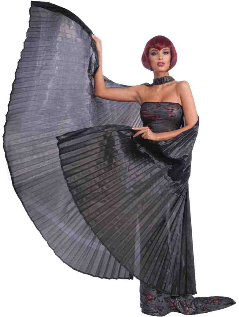 BLACK THEATRICAL WINGS CAPE