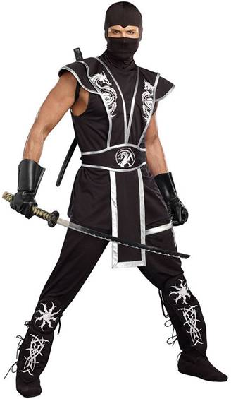BLADES OF DEATH NINJA COSTUME FOR MEN  sc 1 st  Crazy For Costumes & All u003e Men u003e Chinese / Japanese / Ninjas - Crazy For Costumes/La Casa ...