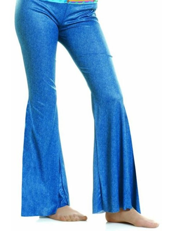 BLUE BELL-BOTTOM PANTS COSTUME ACCESSORY FOR WOMEN