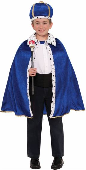 BLUE KING ROBE AND CROWN SET FOR BOYS