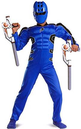 BLUE POWER RANGER JUNGLE FURY WITH MUSCLE TORSO