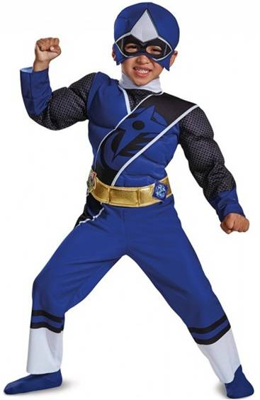 BLUE POWER RANGER NINJA STEEL COSTUME FOR BOYS