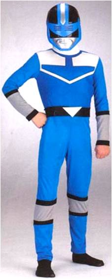 BLUE POWER RANGER TIME FORCE
