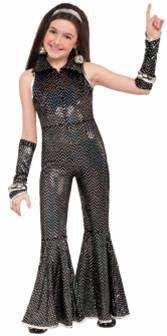 BOOGIE DISCO JUMPSUIT COSTUME FOR GIRLS