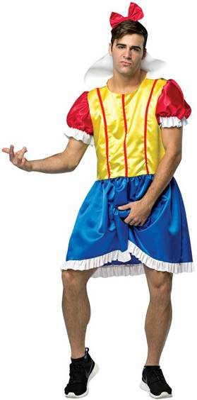 BRO WHITE SNOW WHITE COSTUME FOR MEN