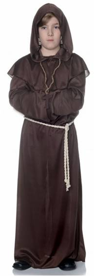 BROWN MONK ROBE COSTUME FOR BOYS