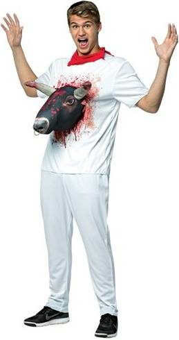 BULL ATTACK T-SHIRT COSTUME FOR ADULTS
