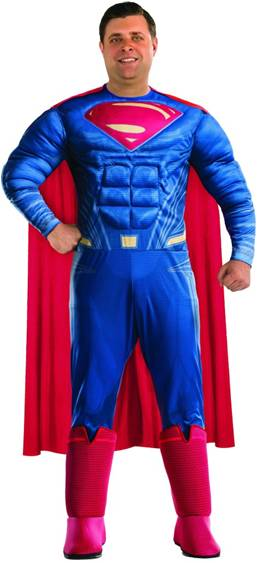 BvS DELUXE SUPERMAN COSTUME FOR PLUS SIZED MEN