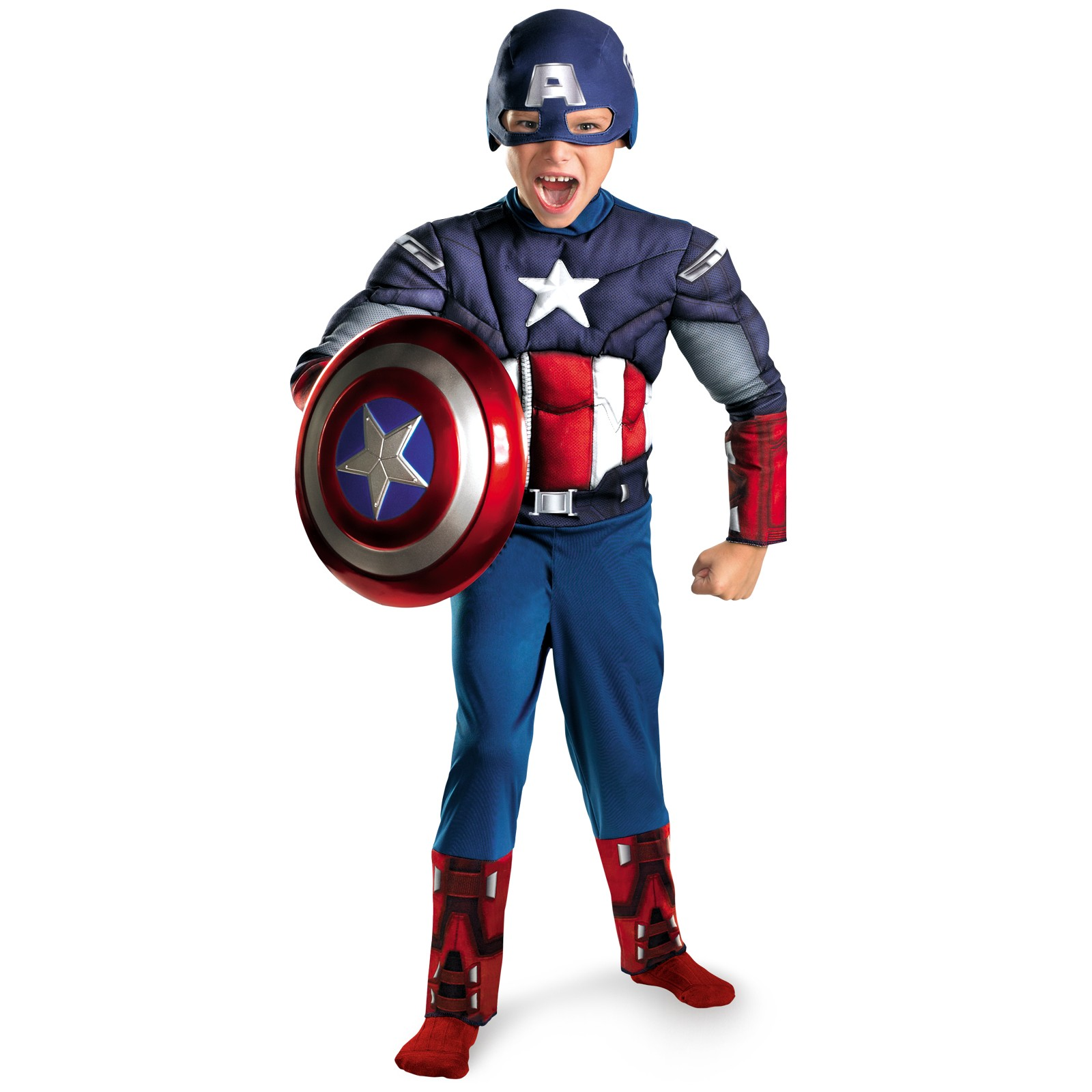 AVENGERS CAPTAIN AMERICA WITH MUSCLE TORSO