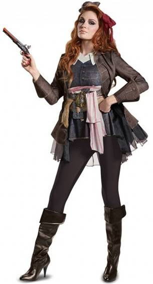 DELUXE CAPTAIN JACK SPARROW COSTUME FOR WOMEN