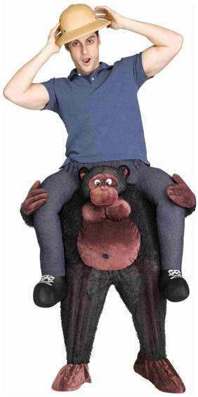 CARRY ME GORILLA COSTUME FOR ADULTS