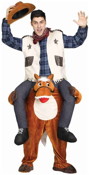 CARRY ME HORSE COSTUME FOR ADULTS