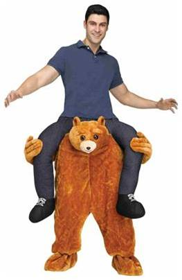 CARRY ME TEDDY BEAR COSTUME FOR ADULTS