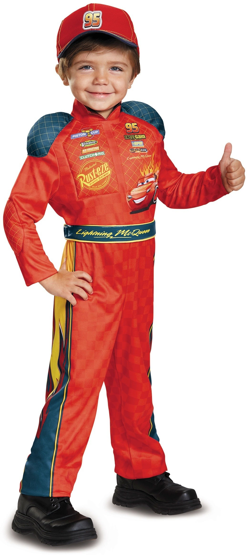 LIGHTNING MCQUEEN MUSCLE PADDED COSTUME FOR BOYS