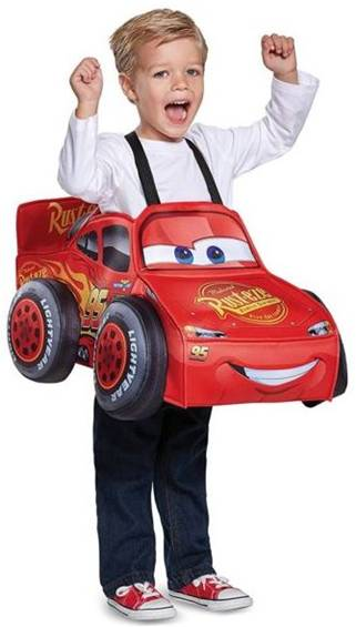 3D LIGHTNING MCQUEEN COSTUME FOR BOYS