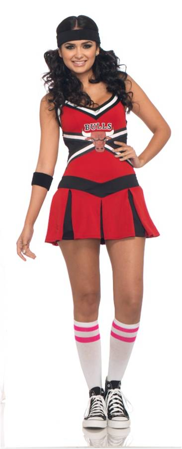 CHICAGO BULLS CHEERLEADER COSTUME