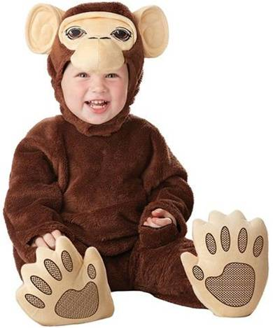 CHIMPANZEE COSTUME FOR INFANTS BOYS