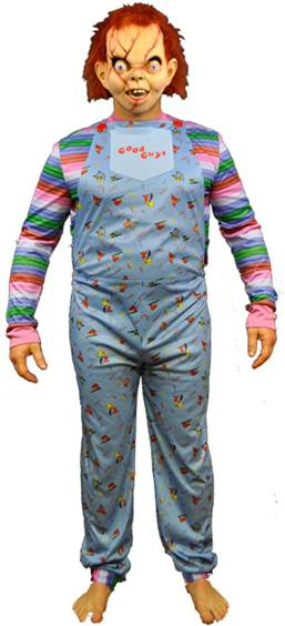 CHUCKY GOOD GUY DOLL COSTUME FOR ADULTS