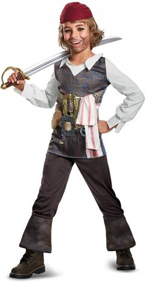 CLASSIC CAPTAIN JACK SPARROW COSTUME FOR BOYS