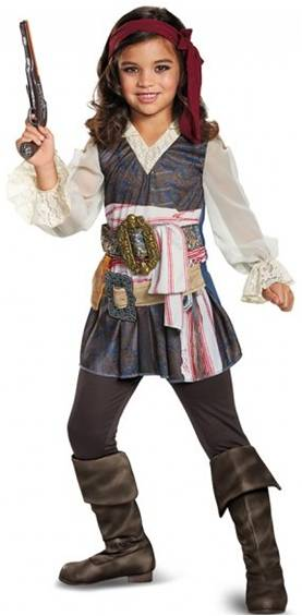 CLASSIC CAPTAIN JACK SPARROW COSTUME FOR GIRLS