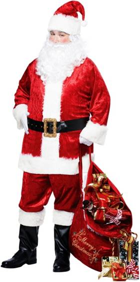 CLASSIC SANTA SUIT COSTUME FOR PLUS SIZE MEN
