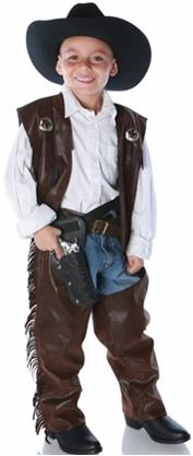 COWBOY CHAPS AND VEST COSTUME FOR BOYS