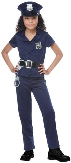 CUTE COP POLICE OFFICER COSTUME FOR GIRLS