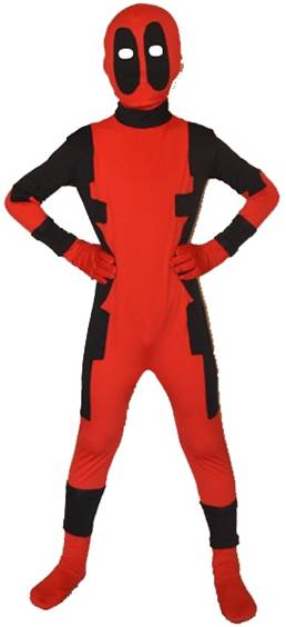RED AND BLACK ZENTAI SUIT FOR BOYS