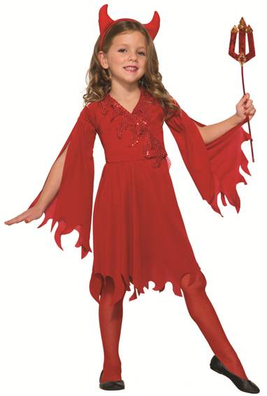 DELIGHTFUL DEVIL COSTUME FOR GIRLS