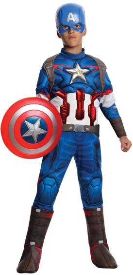 DELUXE CAPTAIN AMERICA COSTUME FOR BOYS
