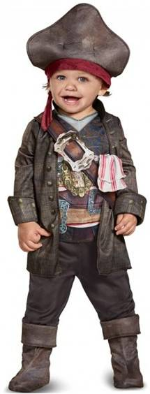 DELUXE CAPTAIN JACK SPARROW COSTUME FOR BOYS