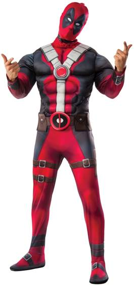 DELUXE DEADPOOL COSTUME FOR MEN