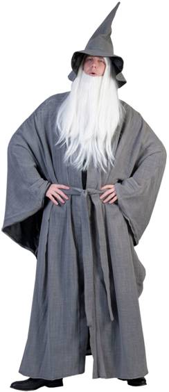 GRAY GREY WIZARD COSTUME FOR MEN