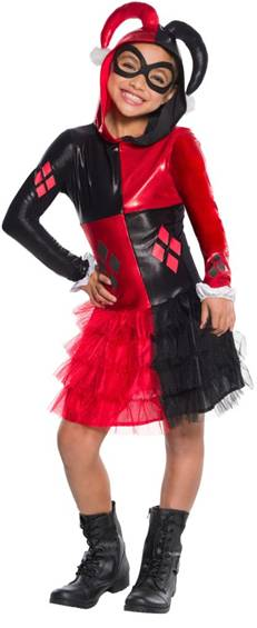 DELUXE HARLEY QUINN COSTUME FOR GIRLS