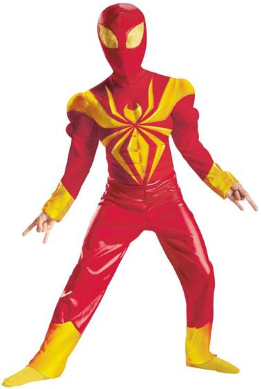 DELUXE MUSCLE TORSO IRON SPIDER-MAN
