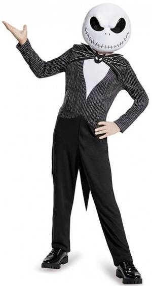 DELUXE JACK SKELLINGTON COSTUME FOR BOYS