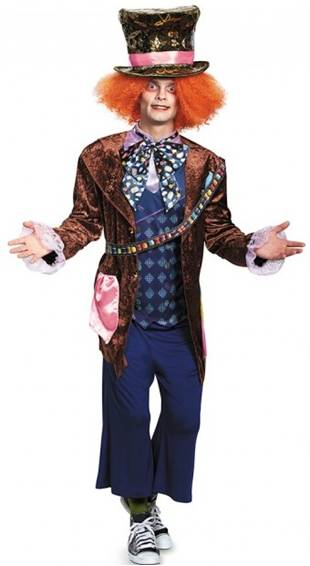 DELUXE MAD HATTER COSTUME FOR PLUS SIZED MEN